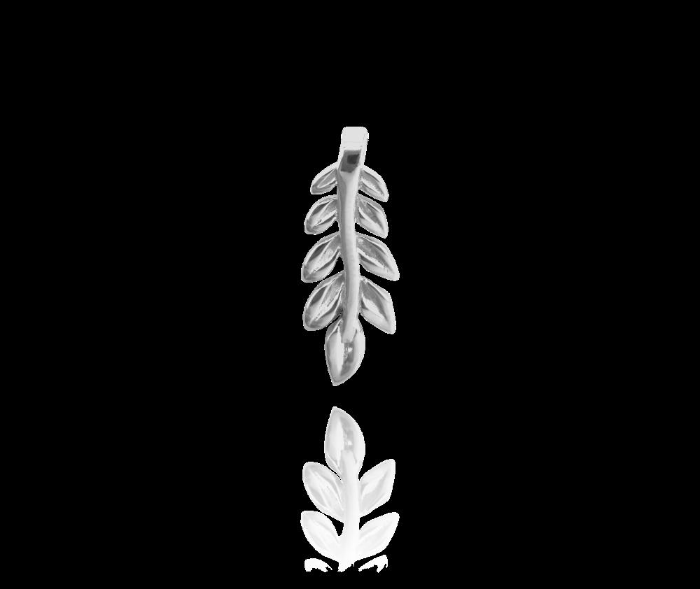 Stříbrný přívěs MINET -- LÍSTEK