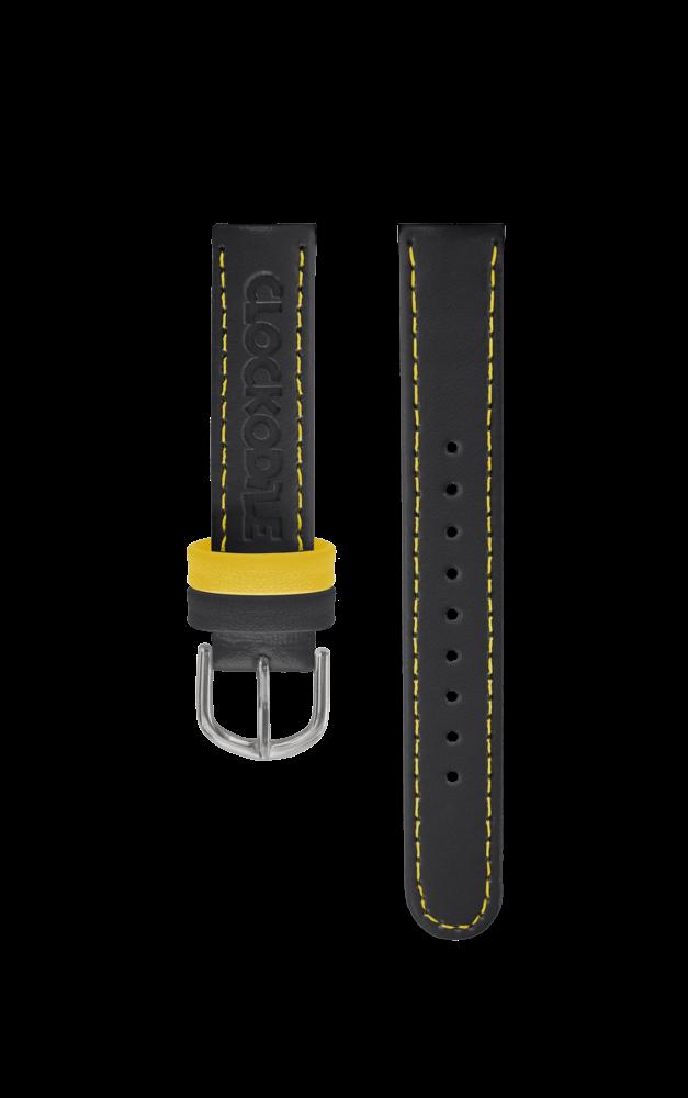 Černý řemínek k dětským hodinkám CLOCKODILE