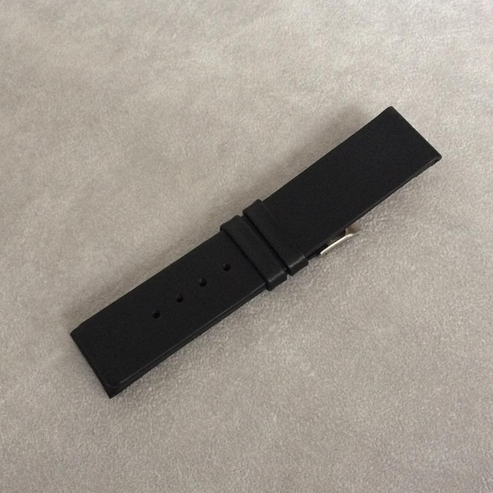 Černý hladký řemínek LAVVU PLAIN z luxusní kůže Top Grain - 22