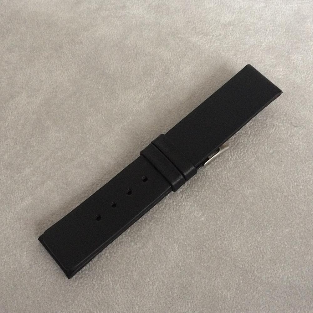Černý hladký řemínek LAVVU PLAIN z luxusní kůže Top Grain - 20