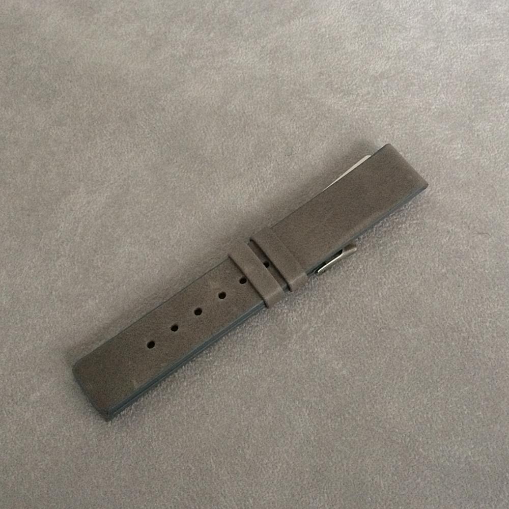 Šedý hladký řemínek LAVVU PLAIN z luxusní kůže Top Grain - 18