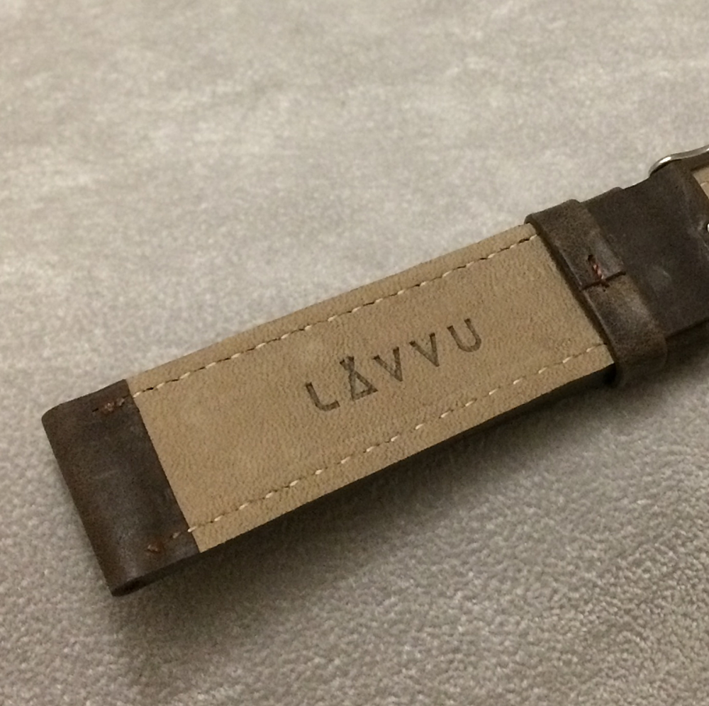 Tmavě hnědý prošitý řemínek LAVVU SPORT z luxusní kůže Top Grain - 22