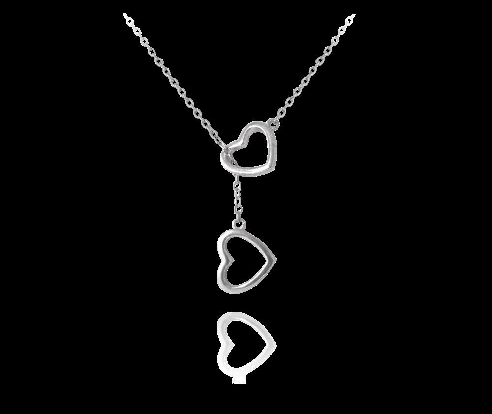 MINET Stříbrný náhrdelník MINET LOVE JMAS0002SN45