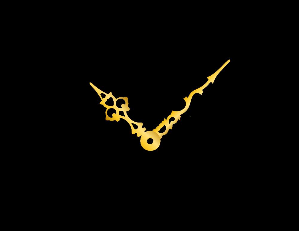 Zlaté hliníkové ručičky na hodiny Antik 58 mm | 43 mm