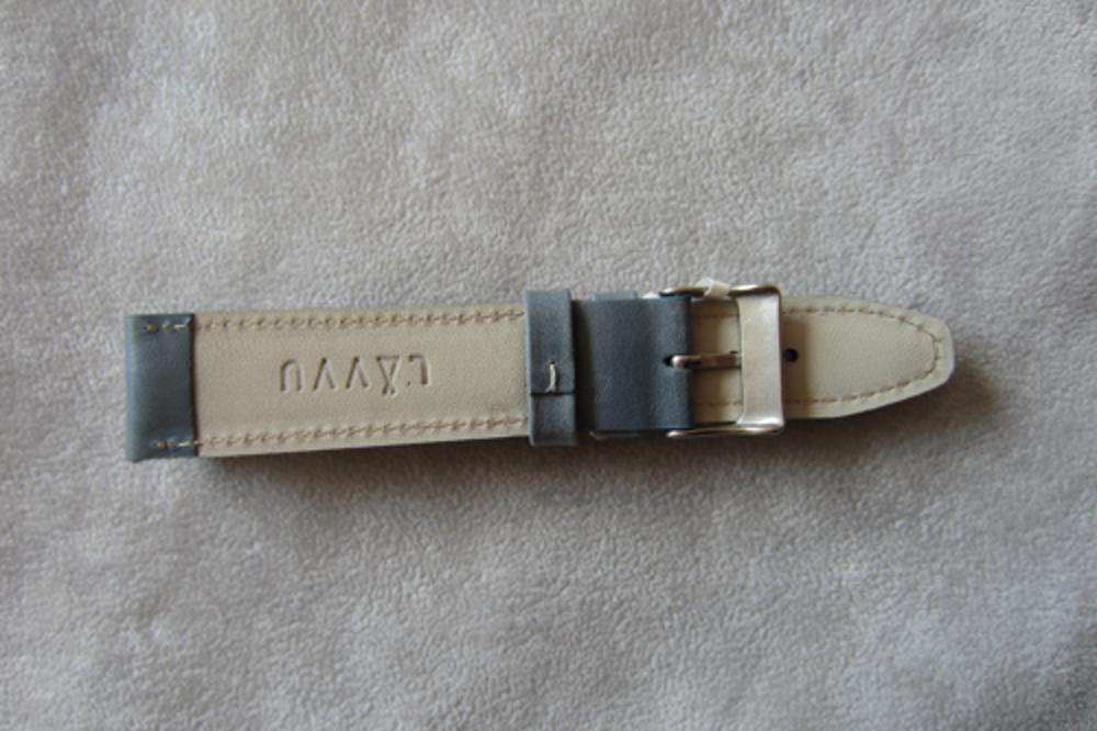 Polstrovaný modrý prošitý řemínek LAVVU CLASSIC z luxusní kůže Top Grain - 22