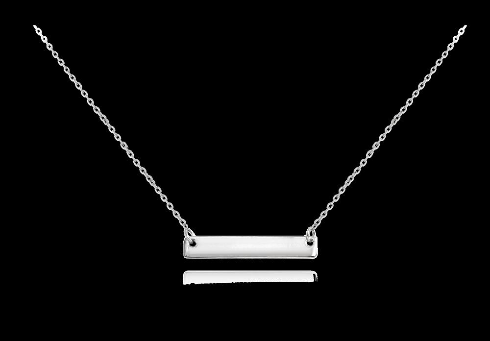 MINET Stříbrný náhrdelník MINET ENGRAVE - destička pro gravírování JMAS8201SN48