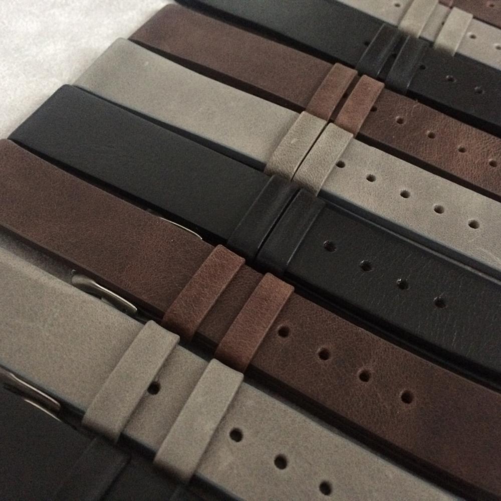 Černý hladký řemínek LAVVU PLAIN z luxusní kůže Top Grain - 16