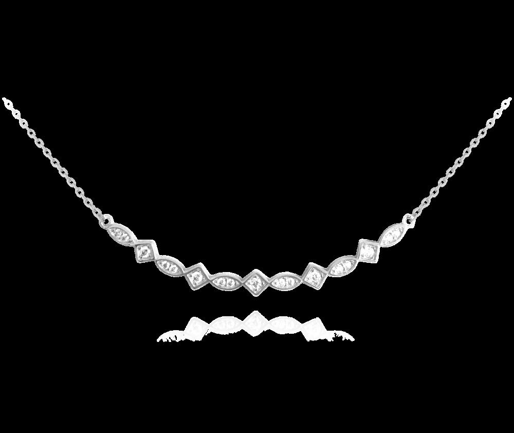 MINET Půvabný stříbrný náhrdelník MINET s bílými zirkony JMAS0024SN45