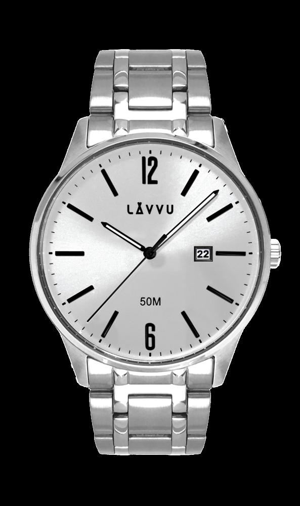 Elegantní pánské hodinky LAVVU KARLSTAD Silver