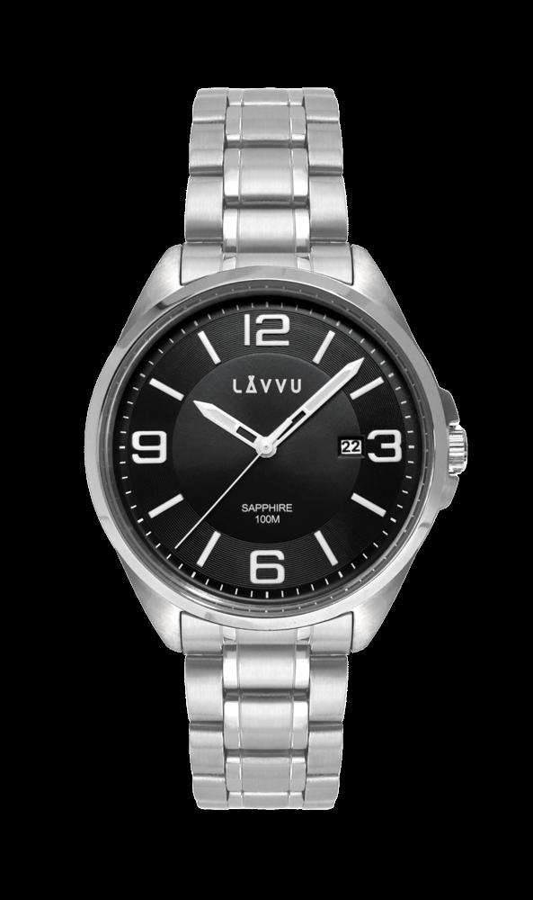 Pánské hodinky se safírovým sklem LAVVU HERNING Black
