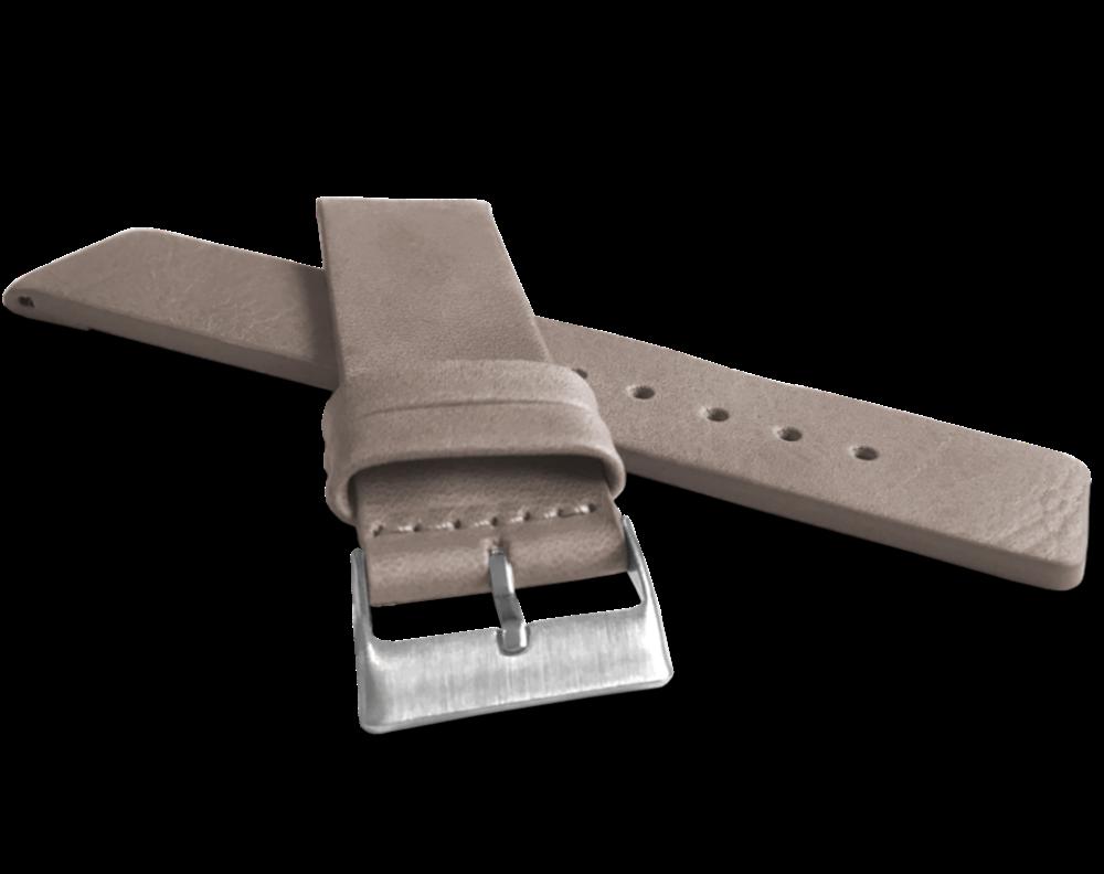 Béžový hladký řemínek LAVVU PLAIN z luxusní kůže Top Grain - 24