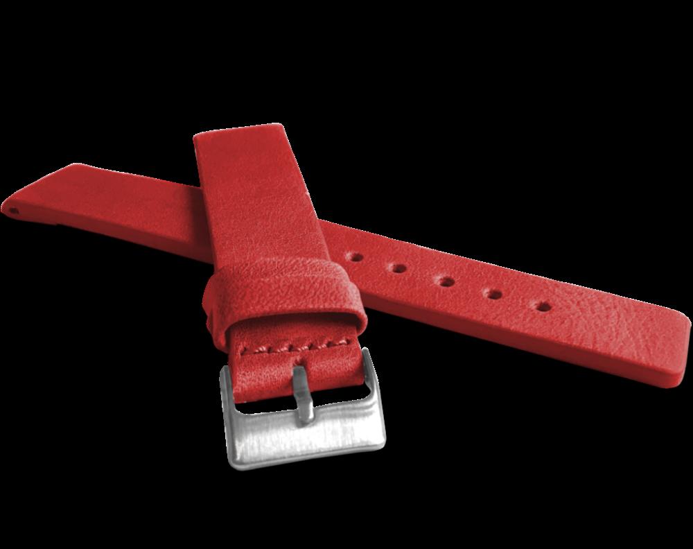 Červený hladký řemínek LAVVU PLAIN z luxusní kůže Top Grain - 20