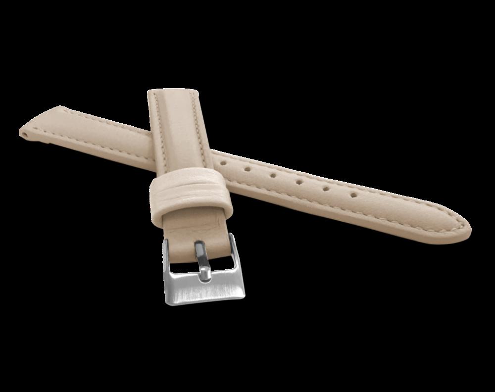 MINET Krémový prošitý řemínek MINET z luxusní kůže Top Grain - 12 MSBUI12