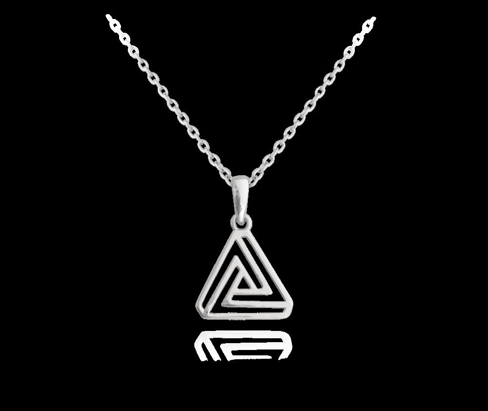 Egyptský stříbrný náhrdelník MINET TROJÚHELNÍK