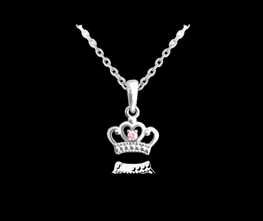 MINET Stříbrný náhrdelník MINET -- KORUNKA JMAD0014SN38