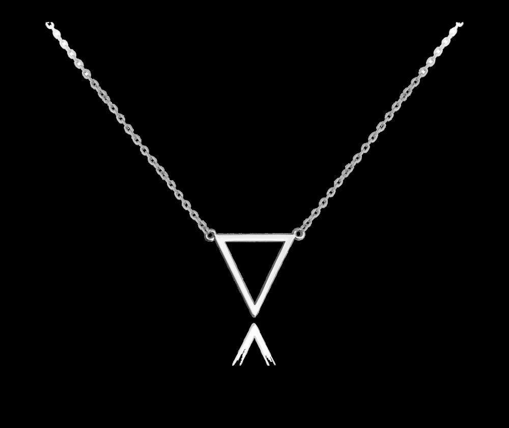 Stříbrný náhrdelník MINET TRIANGLE