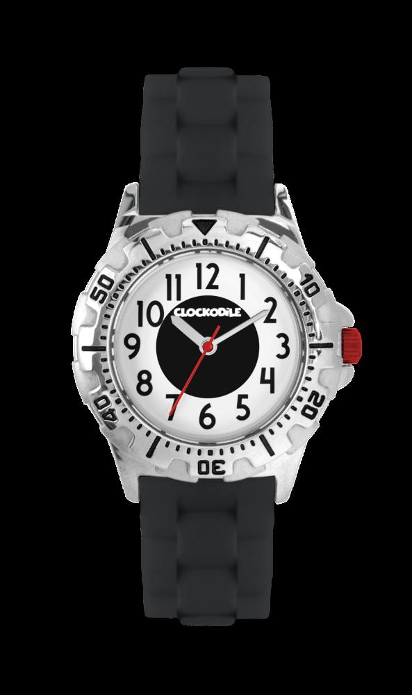 Svítící černé sportovní chlapecké dětské hodinky CLOCKODILE SPORT 3.0