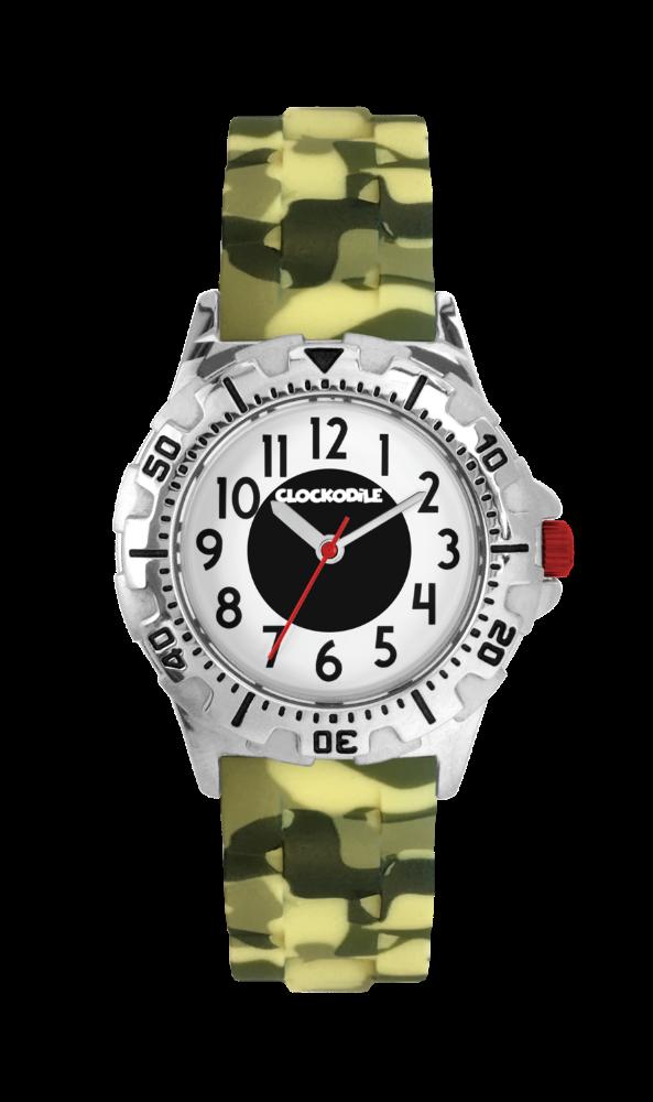Svítící maskáčové sportovní chlapecké dětské hodinky CLOCKODILE SPORT 3.0