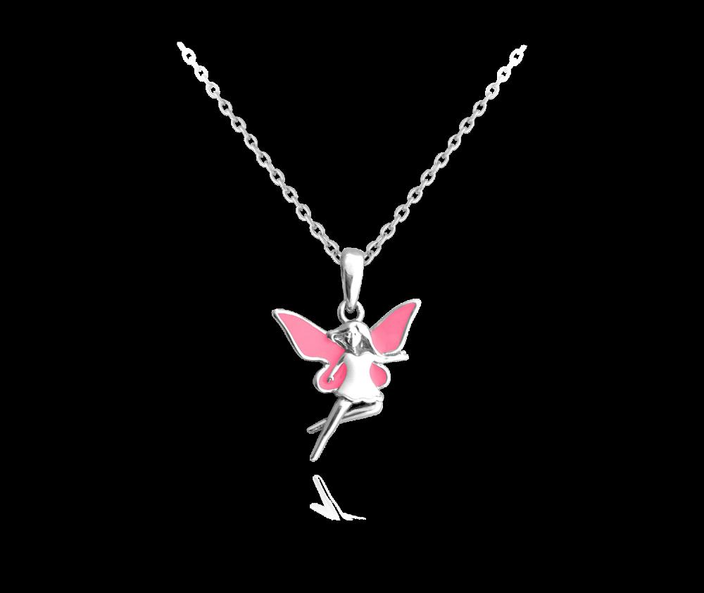 MINET Stříbrný náhrdelník MINET VÍLA JMAD0017SN38