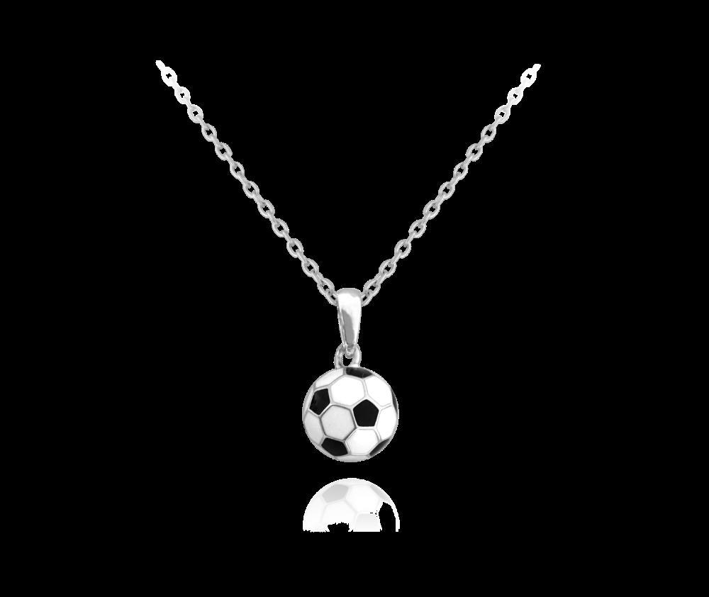 Stříbrný náhrdelník MINET FOTBALOVÝ MÍČ