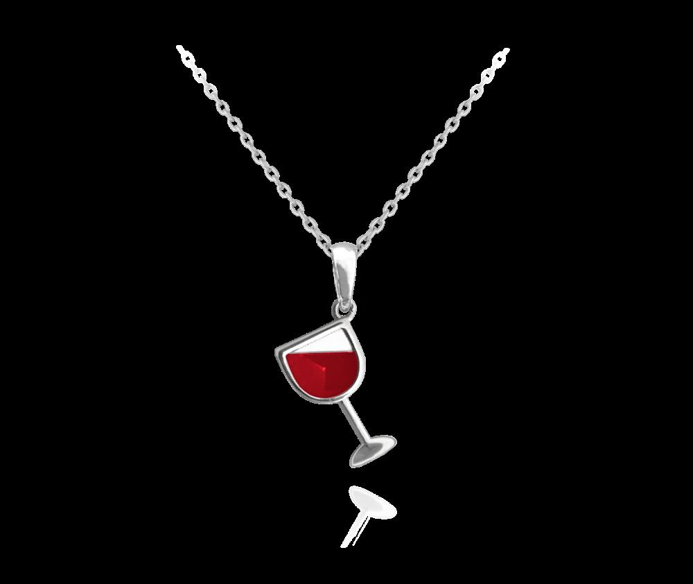 Stříbrný náhrdelník MINET VÍNO