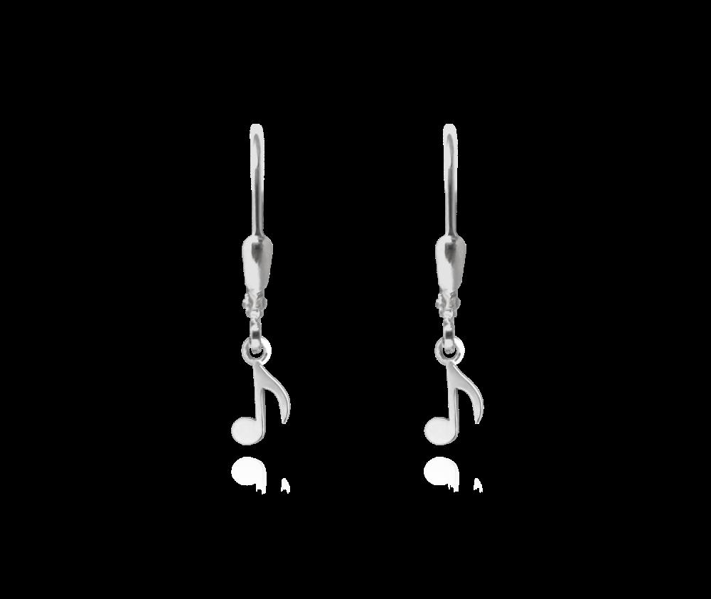 MINET Stříbrné náušnice MINET NOTY JMAS0059SE00