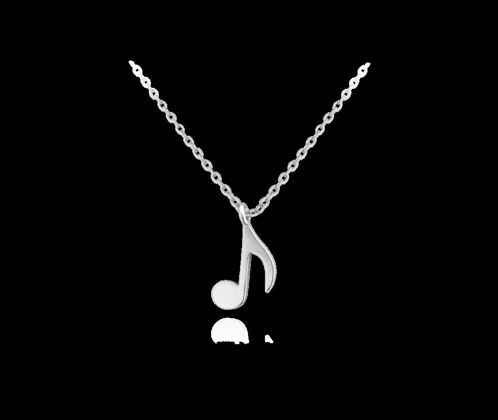 MINET Stříbrný náhrdelník MINET NOTA JMAS0059SN45