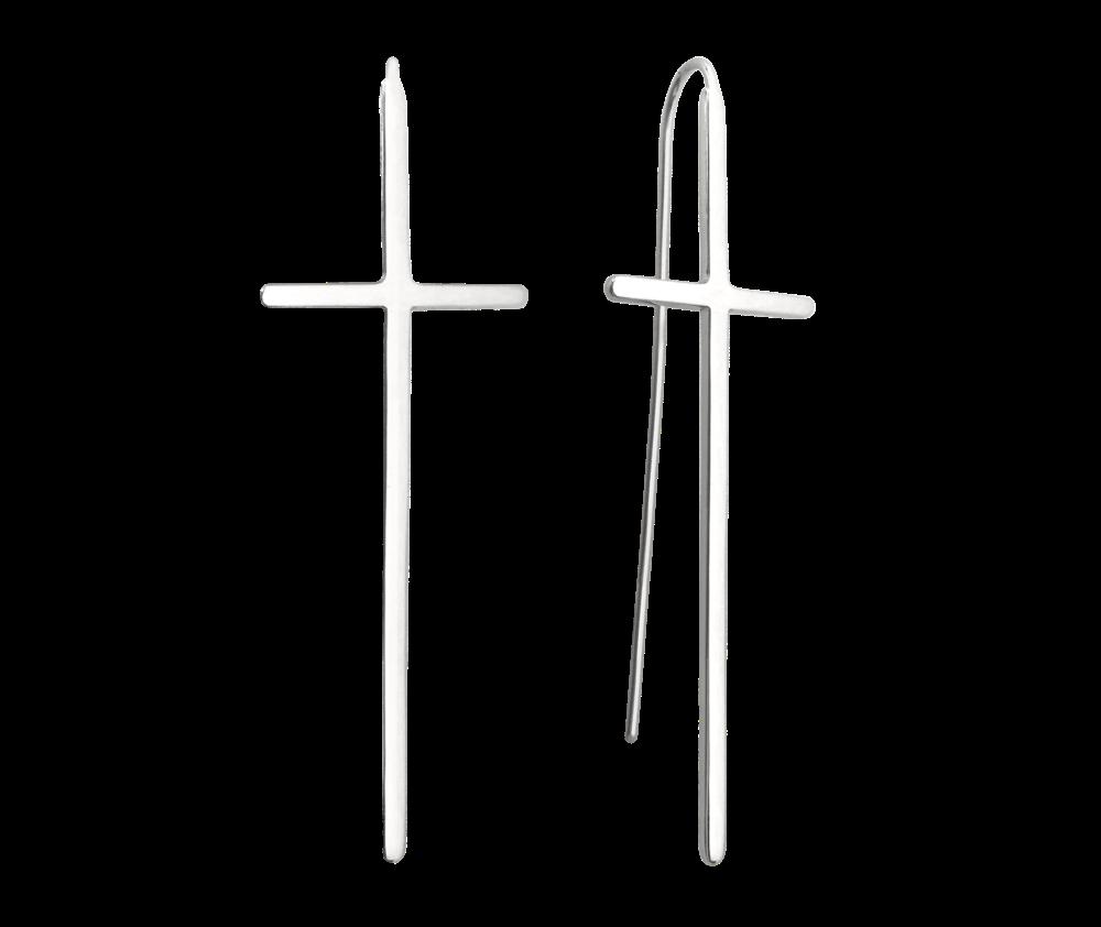 Luxusní stříbrné náušnice MINET KŘÍŽE