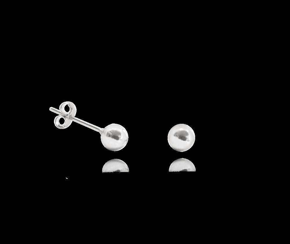 Stříbrné náušnice MINET KULIČKY 5 mm