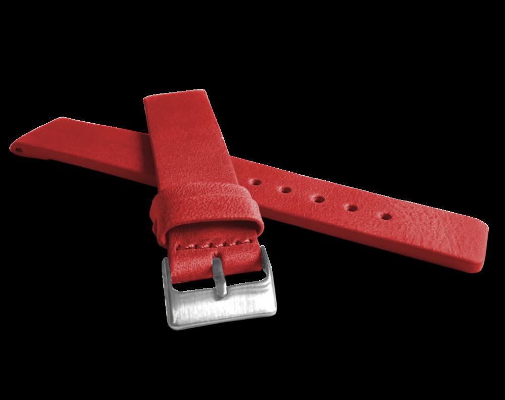 Červený hladký řemínek LAVVU PLAIN z luxusní kůže Top Grain - 16