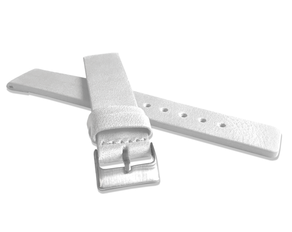 Bílý hladký řemínek LAVVU PLAIN z luxusní kůže Top Grain - 18