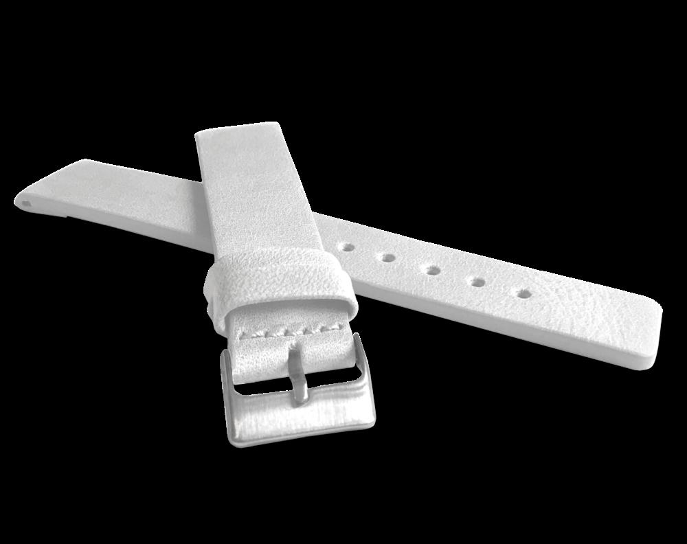 Bílý hladký řemínek LAVVU PLAIN z luxusní kůže Top Grain - 20