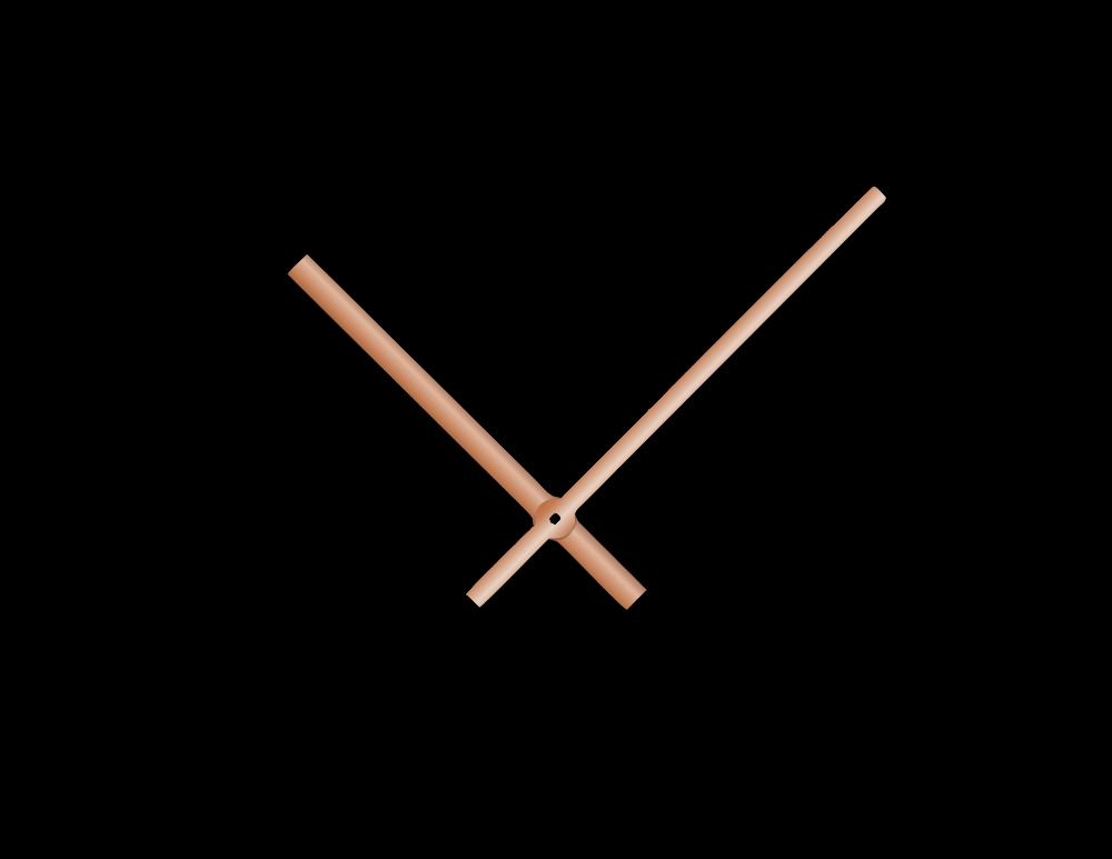 Rose gold rovné hliníkové ručičky na hodiny 145 mm | 113 mm