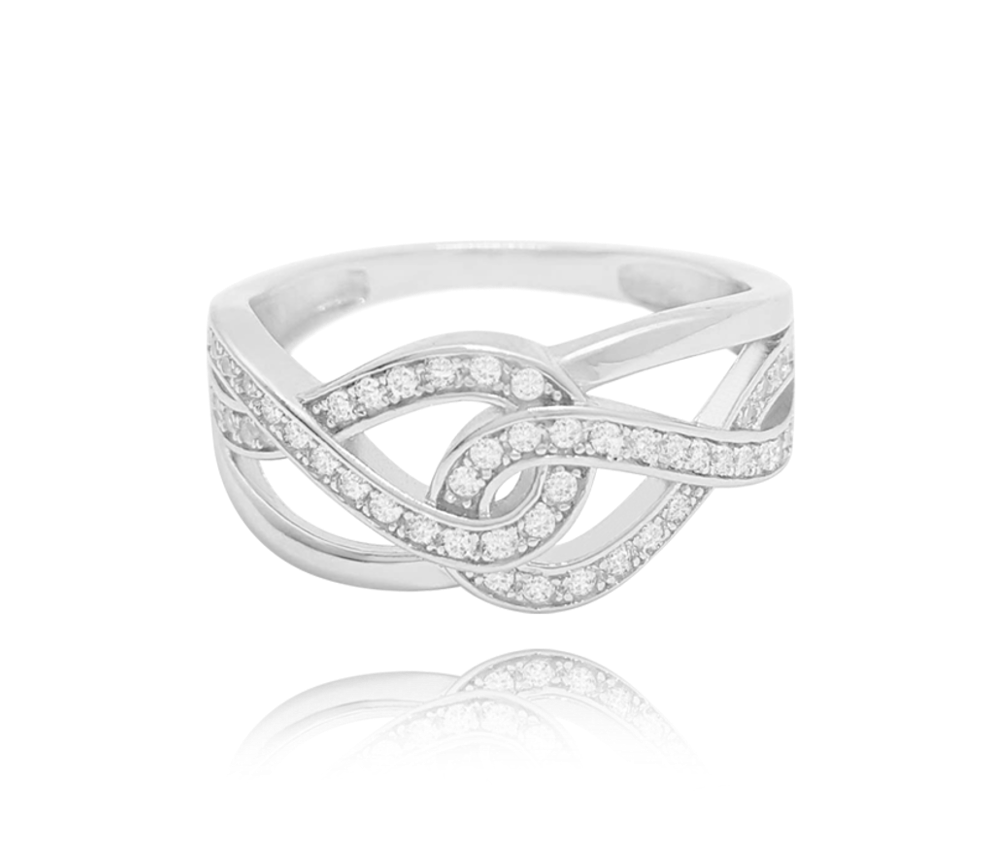 MINET Stříbrný prsten MINET s bílými zirkony vel. 66 JMAN0141SR66