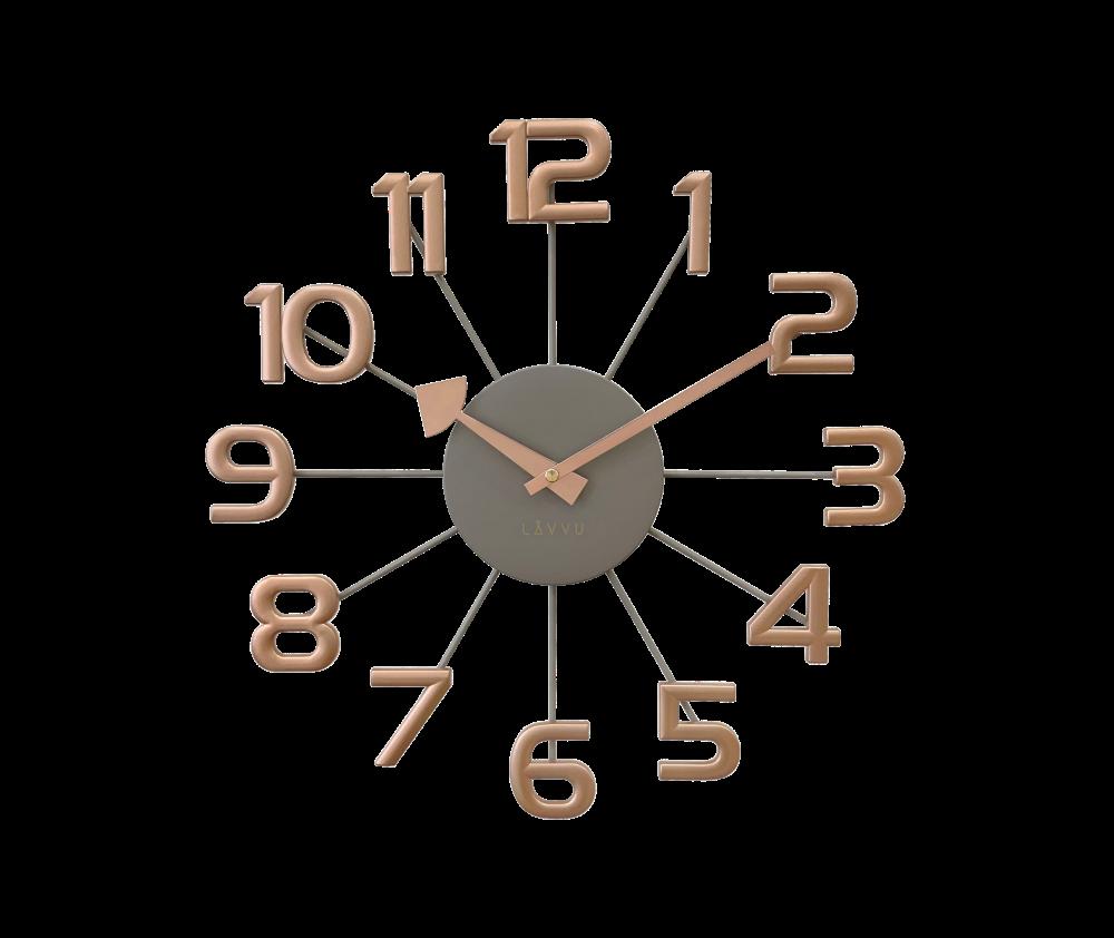Šedo-růžové moderní hodiny LAVVU DESIGN Numerals