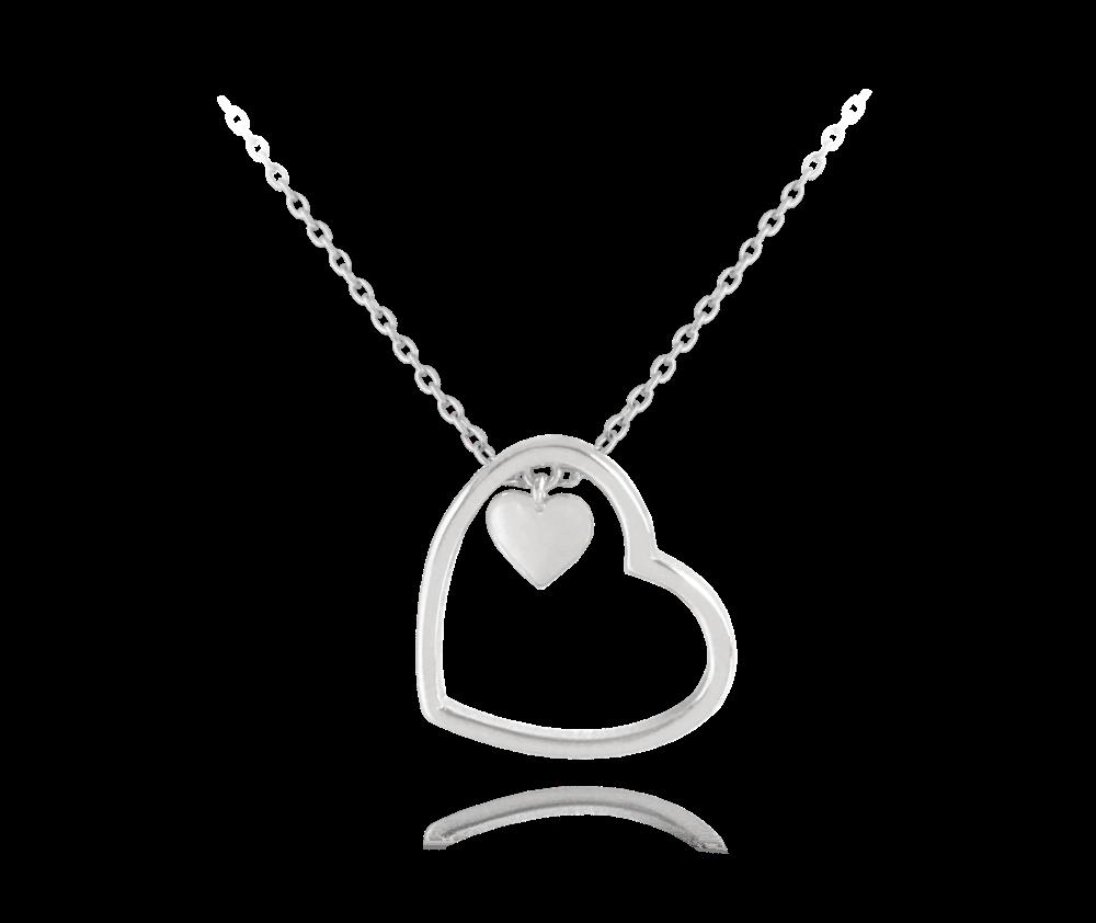 MINET Stříbrný náhrdelník MINET SRDCE JMAN0155SN45