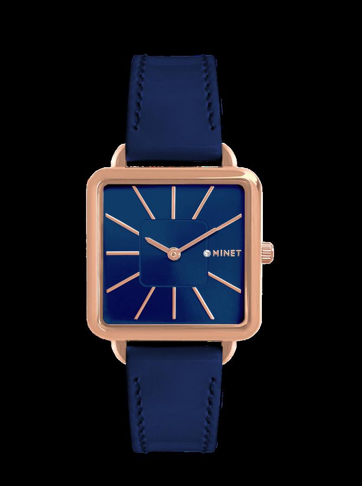 Modré dámské hodinky MINET OXFORD DELUXE BLUE