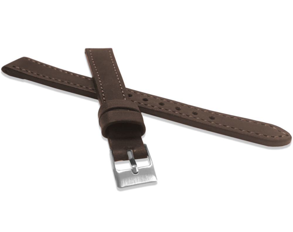 Tmavě hnědý prošitý řemínek LAVVU SPORT z luxusní kůže Top Grain - 14