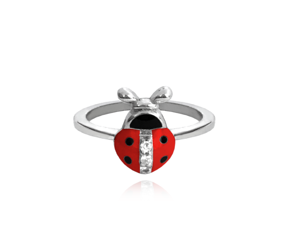 Stříbrný prsten MINET BERUŠKA vykládaná zirkony vel. 46