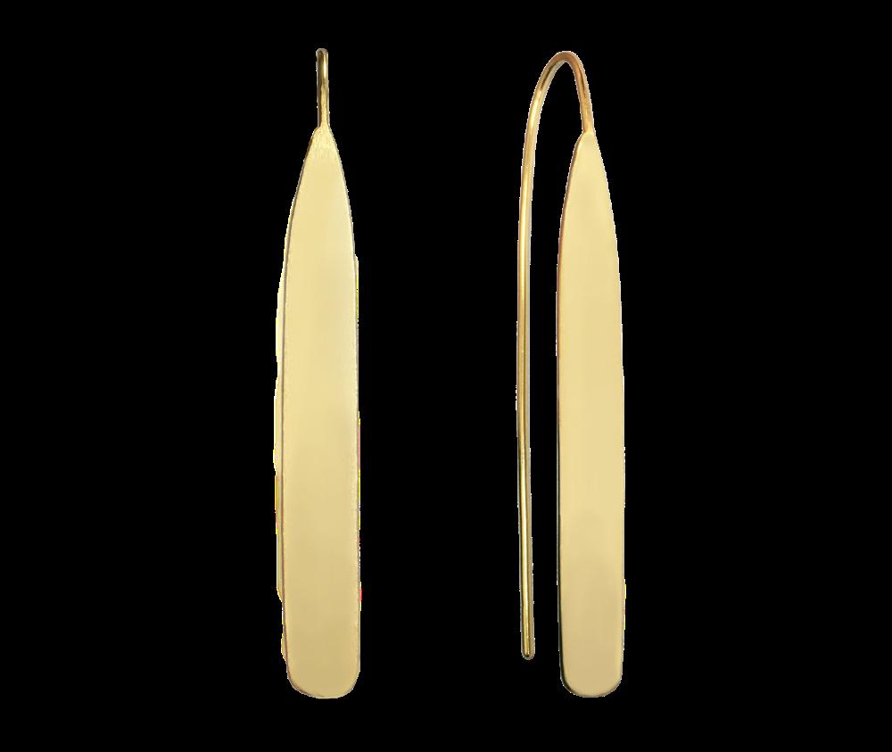 Lesklé pozlacené stříbrné náušnice MINET