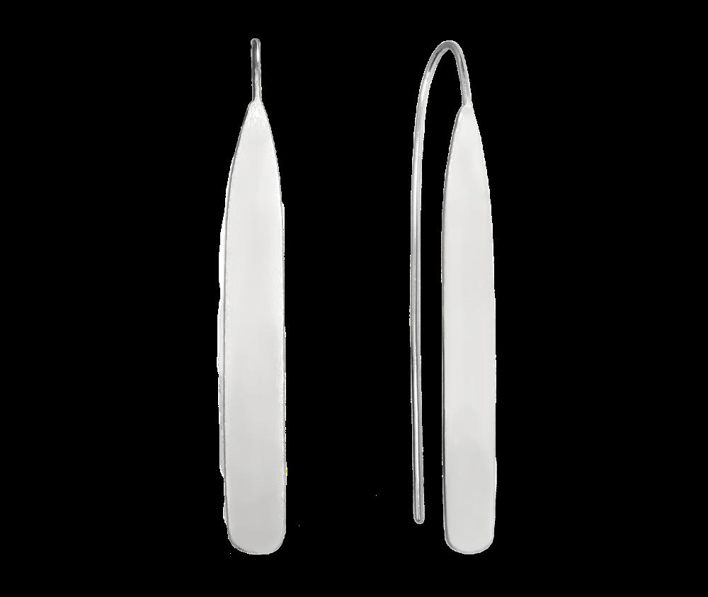 Lesklé stříbrné náušnice MINET