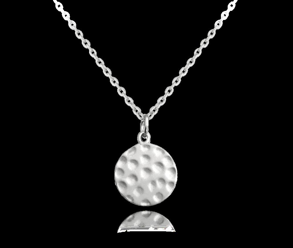 Tepaný matný stříbrný náhrdelník MINET