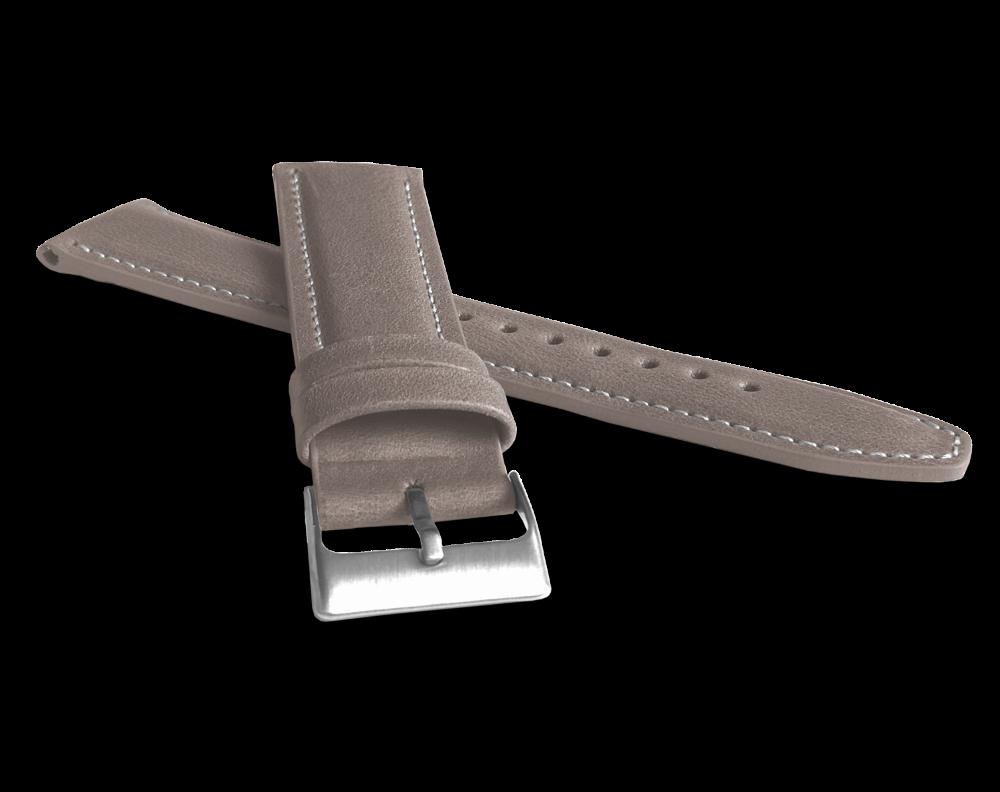 Polstrovaný béžový prošitý řemínek LAVVU CLASSIC z luxusní kůže Top Grain - 24