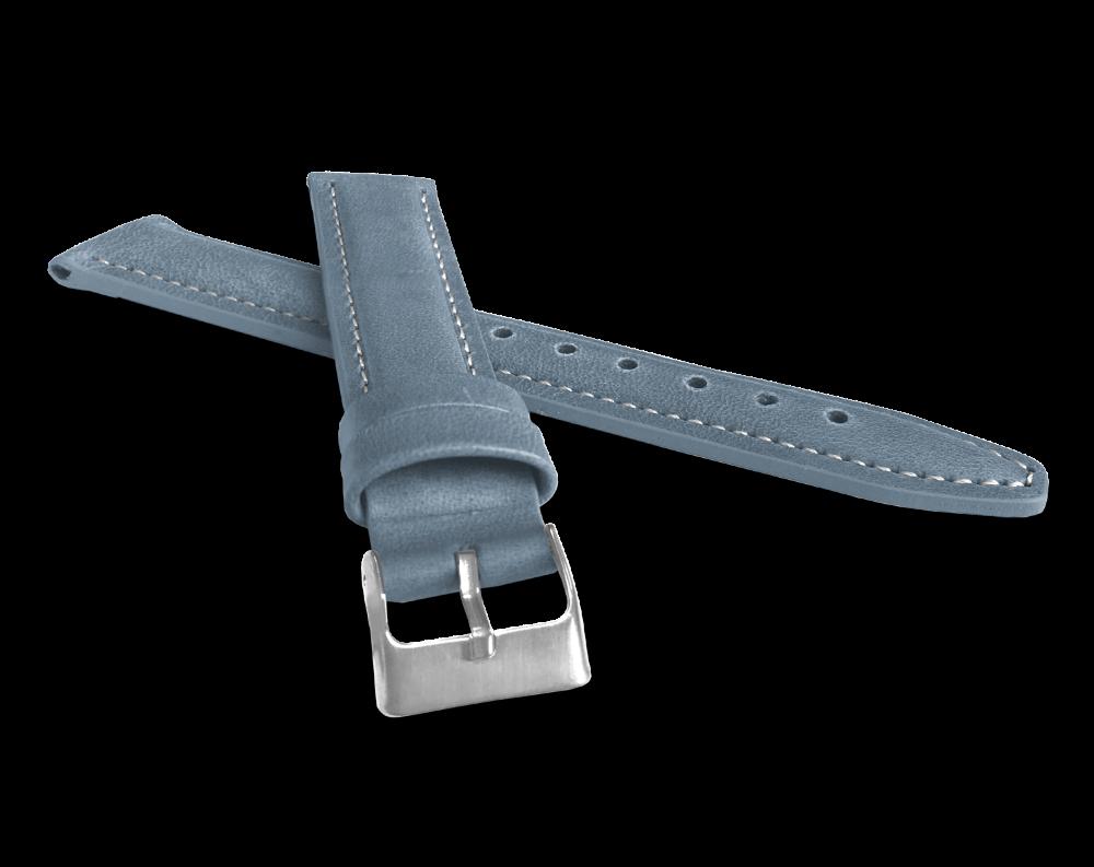 Polstrovaný modrý prošitý řemínek LAVVU CLASSIC z luxusní kůže Top Grain - 20