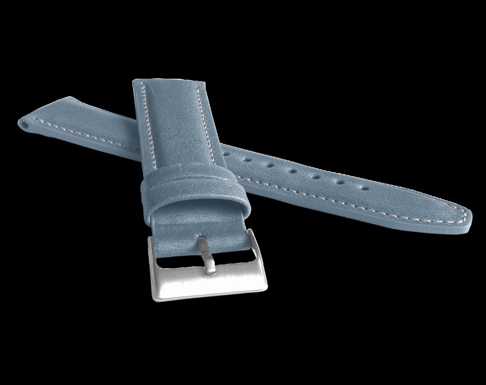 Polstrovaný modrý prošitý řemínek LAVVU CLASSIC z luxusní kůže Top Grain - 24