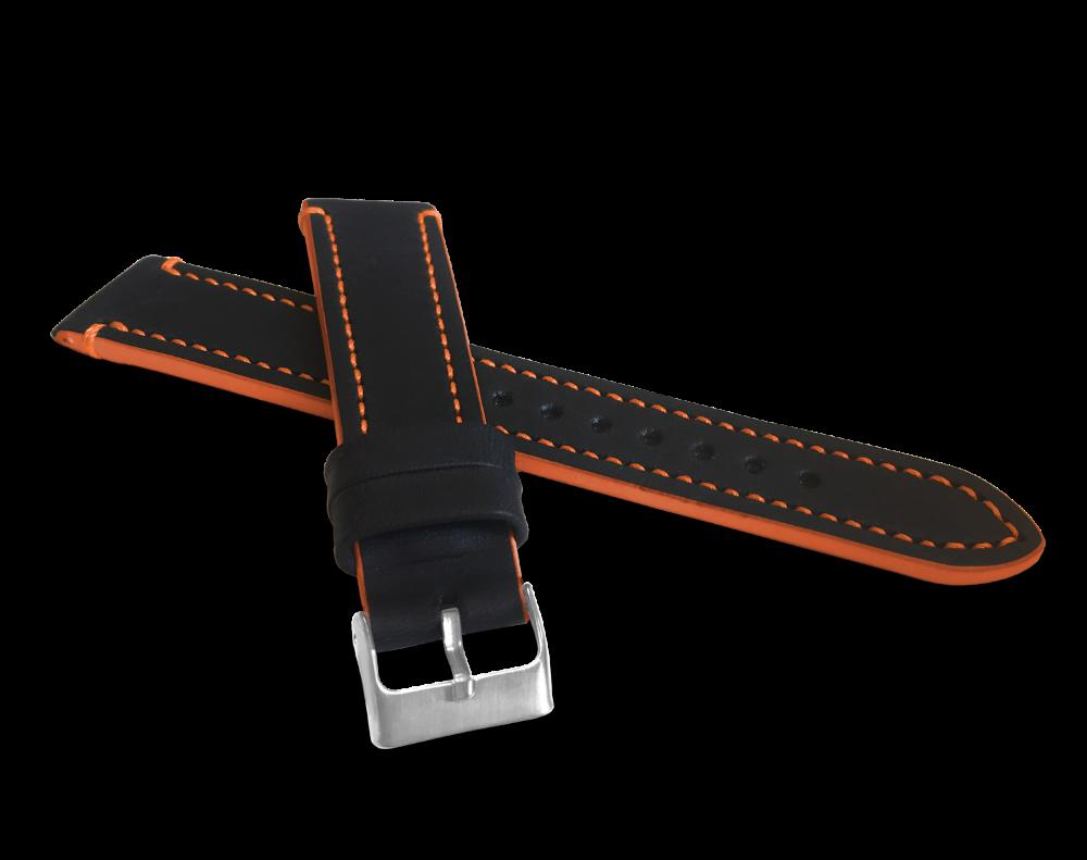 Oranžově prošitý řemínek LAVVU TAILOR z luxusní kůže Top Grain - 18