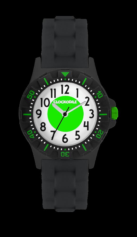 Svítící černo-zelené sportovní chlapecké hodinky CLOCKODILE SPORT 3.0
