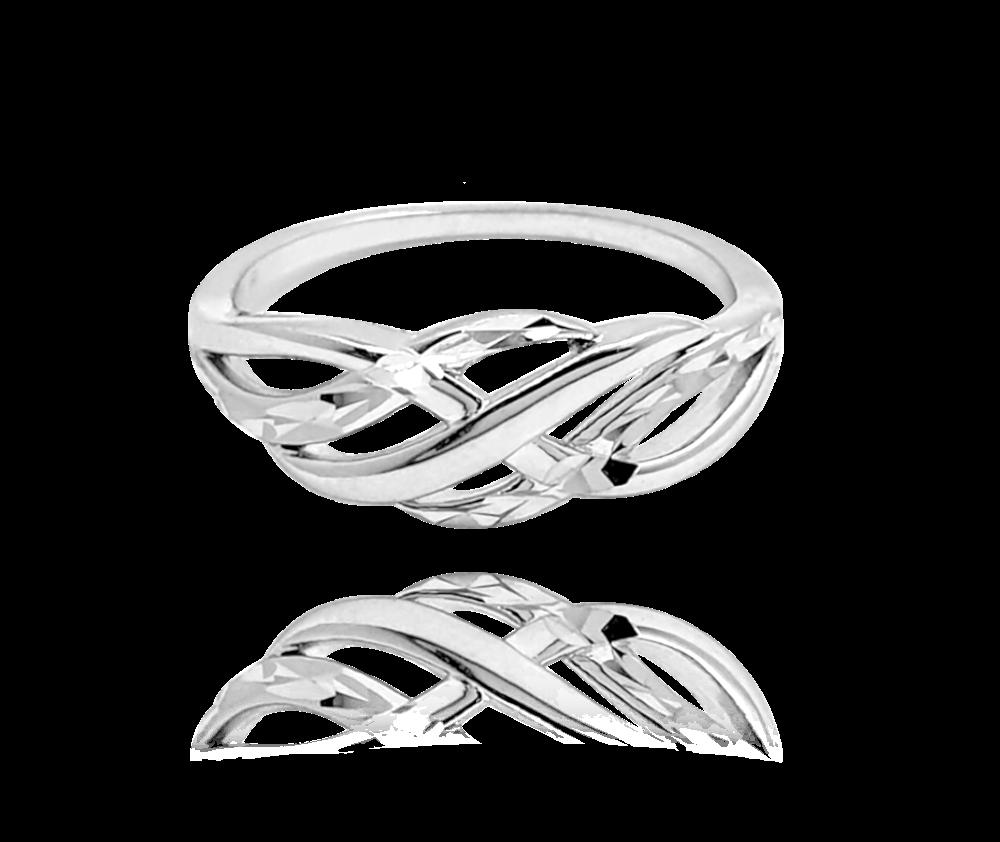 Broušený stříbrný prsten MINET vel. 56