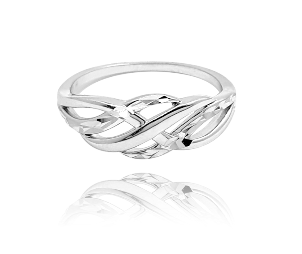 Broušený stříbrný prsten MINET vel. 60