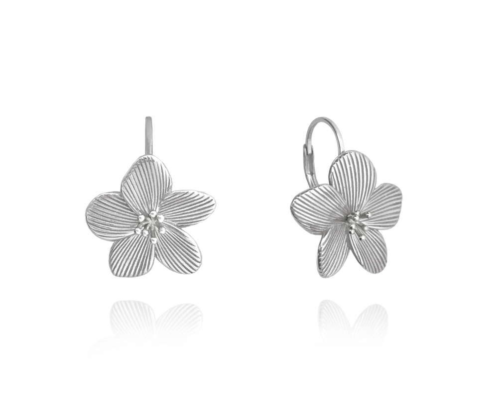 MINET Rozkvetlé stříbrné náušnice MINET FLOWERS JMAS5038SE00